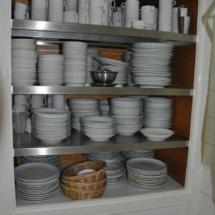 Essgeschirr im Taghaus
