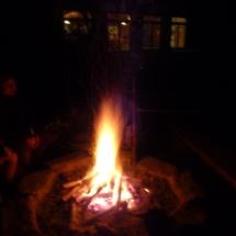 Lagerfeuer am Ferienheim
