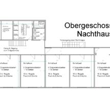 Grundriss Nachthaus Obergeschoss